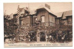 14 – VILLERVILLE-SUR-MER : Hôtel Des Parisiens, A Mahu Propriétaire - Villerville