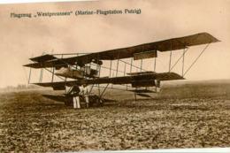 PUTZIG / PUCK - Marine-Flugstation Mit Flugzeug Westpreussen - 1914-1918: 1st War