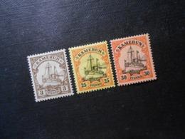 D.R.Mi 7/11/12Pf*MLH - Deutsche Kolonien ( Kamerun ) 1900 - Mi 6,40 € - Colonie: Cameroun