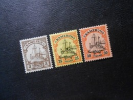 D.R.Mi 7/11/12Pf*MLH - Deutsche Kolonien ( Kamerun ) 1900 - Mi 6,40 € - Colony: Cameroun