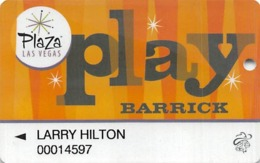 Plaza Casino Las Vegas, NV - Slot Card - Reverse Text NOT Indented - Casino Cards
