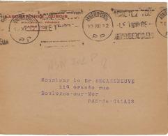 ASNIERES CENTRE KRAG 1932 DREYFUSS (ASN302) 1994 NON COTE EN PORT PAYE PP  TIMBRE ANTITUBERCULEUX DEVANT SEUL - Poststempel (Briefe)