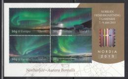 2013 Iceland Aurora Borealis Souvenir Sheet Complete  MNH  **PRICED TO SELL ** - Sterrenkunde