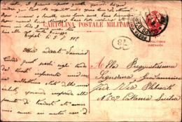 69186) INTERO POSTALE MILITARE PER LA TRIPOLITANIA E CIRENAICA BOLLO CORPO D'ARMATA TRIPOLITANIA IL 5-7-1912 - 1900-44 Vittorio Emanuele III