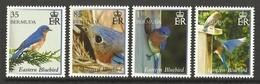 BERMUDA  2014  BIRDS,EASTERN BLUEBIRD   SET  MNH - Non Classés