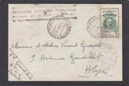 SERVICE AÉRIEN SPÉCIAL PENDANT LE BLOCUS DE DJIBOUTI,LETTRE POUR ALGER. - Französich-Somaliküste (1894-1967)