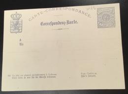 Luxembourg 1877 Entier 5c VARIÉTÉ RARE RECTO-VERSO(Luxemburg Ganzsache Abart Postal Stationery Probedruck Essay Essai - Interi Postali