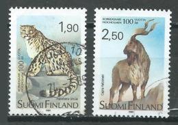 Finlande YT N°1051/1052 Zoo D'Helsinki Oblitéré ° - Finlande
