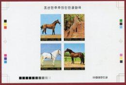 Korea 1987 SC #2654, Collective Deluxe Proof, Horses - Caballos