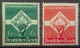DEUTSCHES REICH 1935 - MLH - Mi 571, 572 - 6pf 12pf - Reichsberufswettkampf - Allemagne