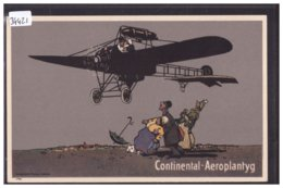 PUBLICITE CONTINENTAL AEROPLANTYG - AVION - CAOUTCHOUC Cie STOCKHOLM - TB - Werbepostkarten