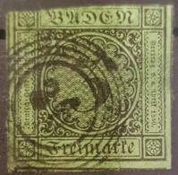 BADEN 1853 - Canceled - Mi 6 - 6k - Baden