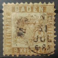BADEN 1862 - Canceled - Mi 15 - 9k - Baden