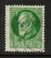 BAVARIA  Scott # 96 VF USED (Stamp Scan # 541) - Bavaria