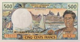 Tahiti (French Oceania) (IEOM) 500 Francs ND (1985)  UNC S/N 59747 Cat No. P-25d / FOC404e - Papeete (French Polynesia 1914-1985)