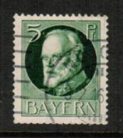 BAVARIA  Scott # 96a VF USED (Stamp Scan # 541) - Bavaria