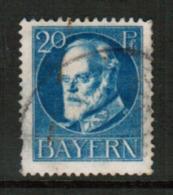 BAVARIA  Scott # 102 VF USED (Stamp Scan # 541) - Bavaria