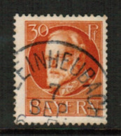 BAVARIA  Scott # 104 VF USED (Stamp Scan # 541) - Bavaria