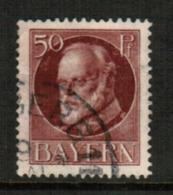 BAVARIA  Scott # 106 VF USED (Stamp Scan # 541) - Bavaria
