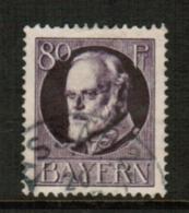 BAVARIA  Scott # 108 VF USED (Stamp Scan # 541) - Bavaria