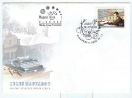 Writer Jeles Magyarok 11.4.2005 Typewriter On Enveloppe Typewriter Machine Ecrir Schrijfmachine - Gebraucht