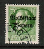 BAVARIA  Scott # 137 VF USED (Stamp Scan # 541) - Bavaria