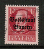 BAVARIA  Scott # 139 VF USED (Stamp Scan # 541) - Bavaria