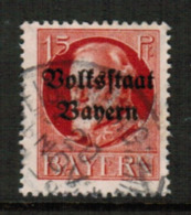 BAVARIA  Scott # 140 VF USED (Stamp Scan # 541) - Bavaria