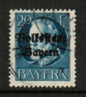 BAVARIA  Scott # 141 VF USED (Stamp Scan # 541) - Bavaria