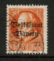 BAVARIA  Scott # 143 VF USED (Stamp Scan # 541) - Bavaria