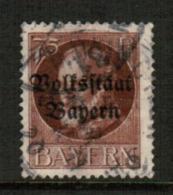 BAVARIA  Scott # 148 VF USED (Stamp Scan # 541) - Bavaria
