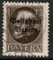 BAVARIA  Scott # 150 VF USED (Stamp Scan # 541) - Bavaria