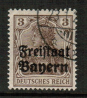 BAVARIA  Scott # 177 VF USED (Stamp Scan # 541) - Bavaria