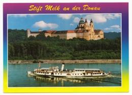Melk An Der Donau - Benediktinerkloster Stift Melk Mit Raddampfer Schönbrunn - Melk