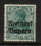 BAVARIA  Scott # 178 VF USED (Stamp Scan # 541) - Bavaria