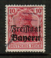 BAVARIA  Scott # 180 VF USED (Stamp Scan # 541) - Bavaria