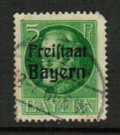 BAVARIA  Scott # 194 VF USED (Stamp Scan # 541) - Bavaria