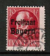 BAVARIA  Scott # 196 F-VF USED (Stamp Scan # 541) - Bavaria