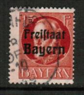 BAVARIA  Scott # 197 F-VF USED (Stamp Scan # 541) - Bavaria