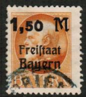 BAVARIA  Scott # 232 VF USED (Stamp Scan # 541) - Bavaria