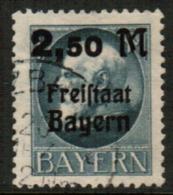 BAVARIA  Scott # 233 VF USED (Stamp Scan # 541) - Bavaria