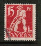 BAVARIA  Scott # 240 VF USED (Stamp Scan # 541) - Bavaria