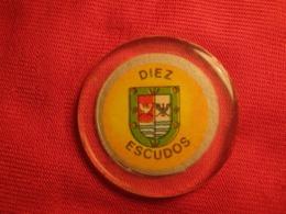 Chile  Ficha Token  Chip 10 Escudos Casino De Puerto Varas - Jetons & Médailles