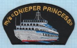 Ukraine / Patche , Abzeichen, Parche, Ecusson / River Fleet M/s DNIEPER PRINCESS. - Ecussons Tissu