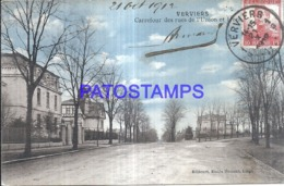 121263 BELGIUM VERVIERS SQUARE OF THE STREETS OF THE UNION CIRCULATED TO ARGENTINA POSTAL POSTCARD - Non Classés