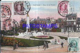 121264 BELGIUM VERVIERS SQUARE OF VICTORY CIRCULATED TO ARGENTINA POSTAL POSTCARD - Non Classés