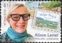 2019 AUSTRALIA LEGEND - Alison Lester VERY FINE POSTALLY USED $1 BOOKLET Stamp - 2010-... Elizabeth II