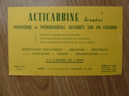 BUVARD   ACTICARBINE DRAGEES - Produits Pharmaceutiques