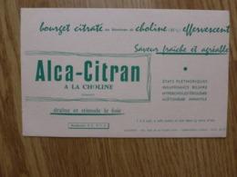 BUVARD   ALCA-CITRAN A LA CHOLINE - Produits Pharmaceutiques