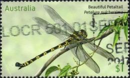 2017 AUSTRALIA Large DRAGONFLY VERY FINE POSTALLY USED Sheet $1 STAMP - Christmas Island